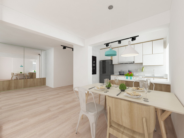 Tampines Street 61 | Open Plan Kitchen