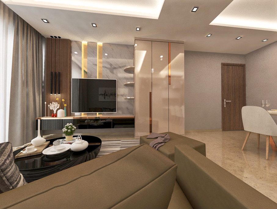 Flo Residence | TV feature wall