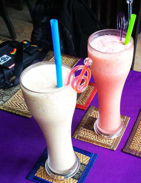 カンボジアのカシューナッツシェイク