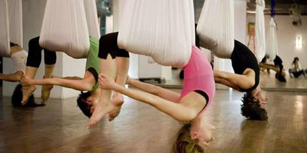 Atelier torsions/backbends en yoga aérien