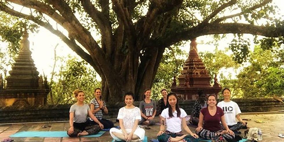 Outdoor yoga aérien