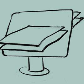 De digitale toets op papier
