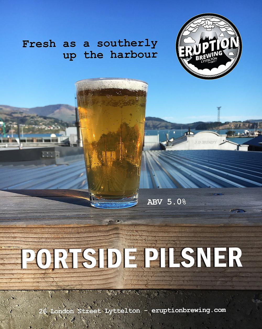 Eruption Brewing Portside Pilsner