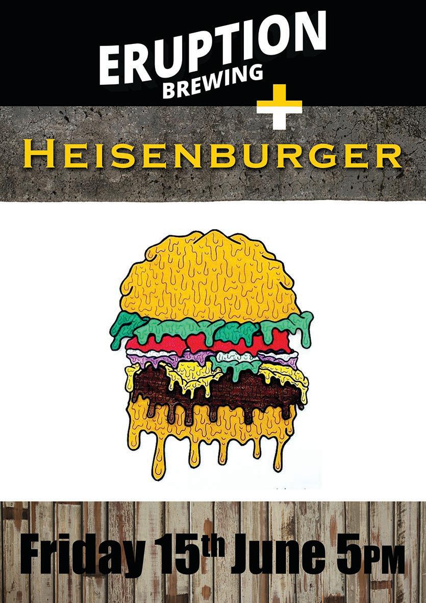 Heisenburger at Eruption Brewing