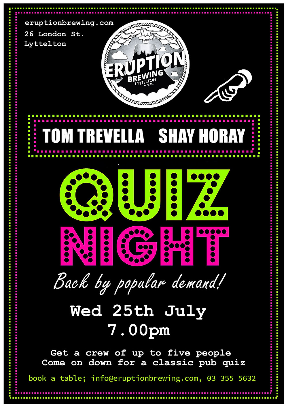 Eruption Brewing Quiz Night