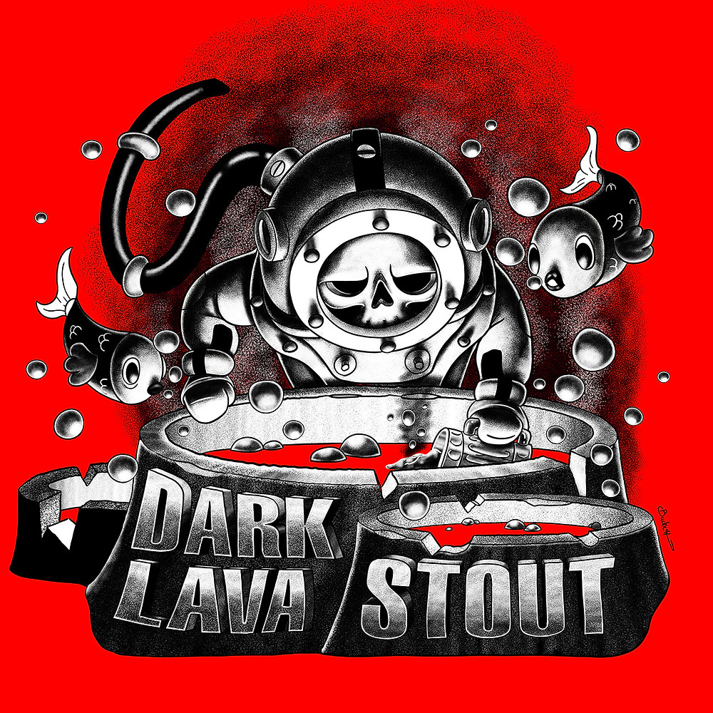 Eruption Dark Lava Stout artwork