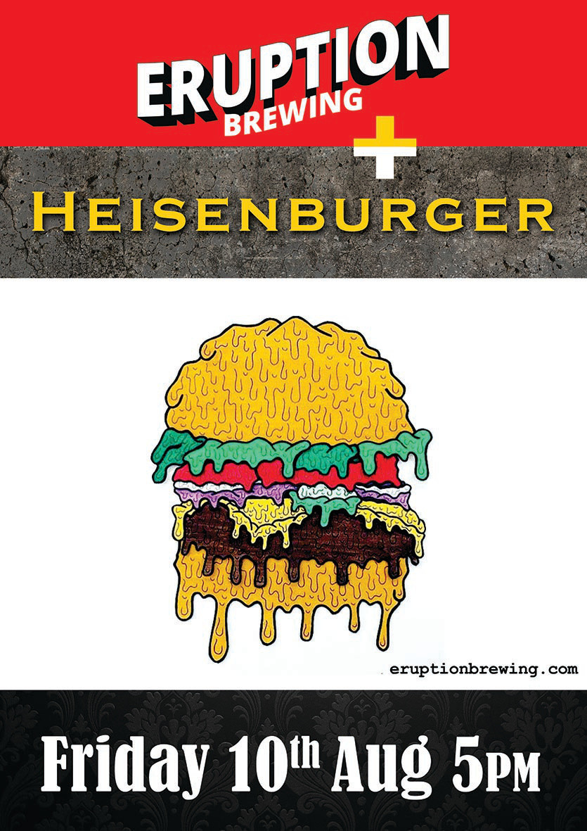 Eruption Brewing and Heisenburger