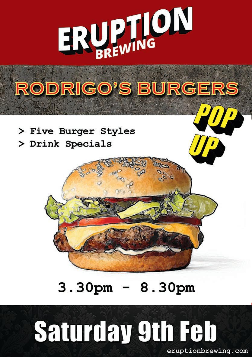 eruption brewing burger pop up