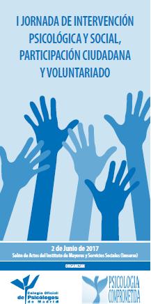 I Jornada de intervención psicológica y social, participación ciudadana y Voluntariado.