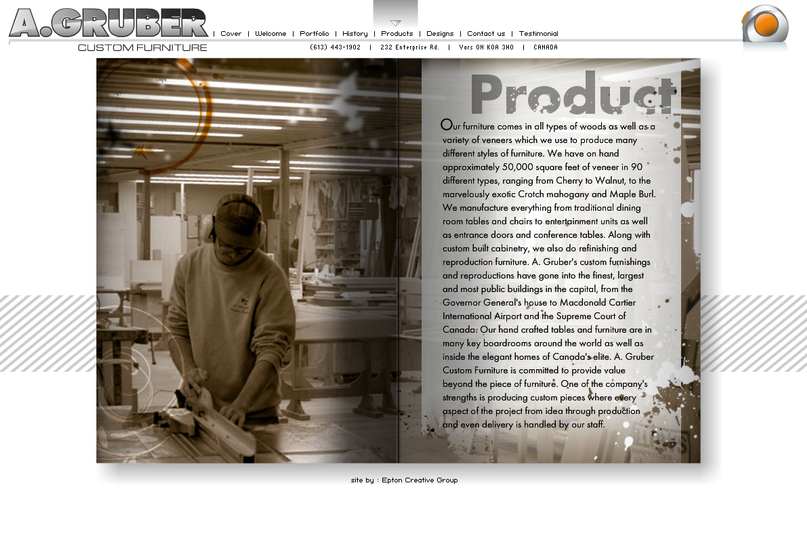 A.Gruber website: Product page