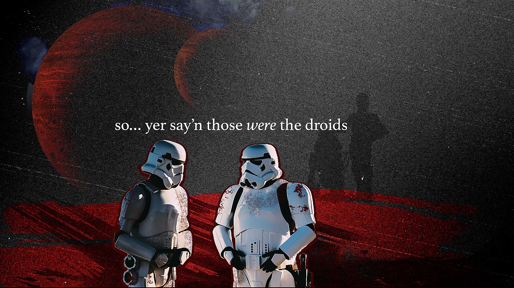 conversation by the stormtroopers who let obi wan kenobi and droids go