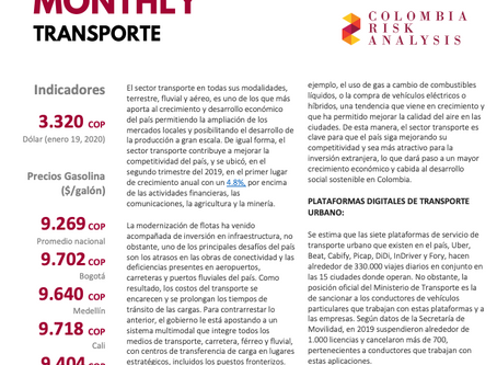 Sector Risk Monthly: Transporte