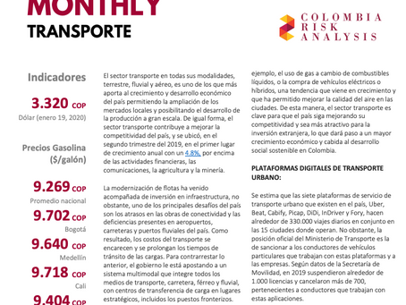 Sector Risk Monthly: Transporte