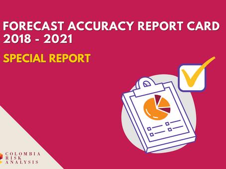 Forecast Scorecard 2018-2021
