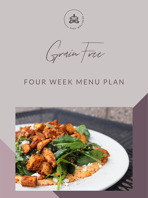 Grain Free Four Week Menu Plan