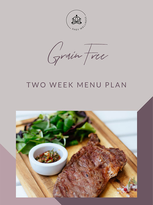 Grain Free Two Week Menu Plan
