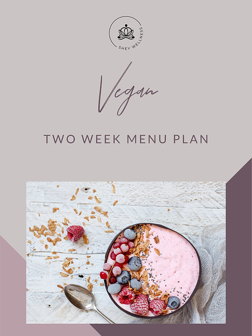 Vegan Two Week Menu Plan