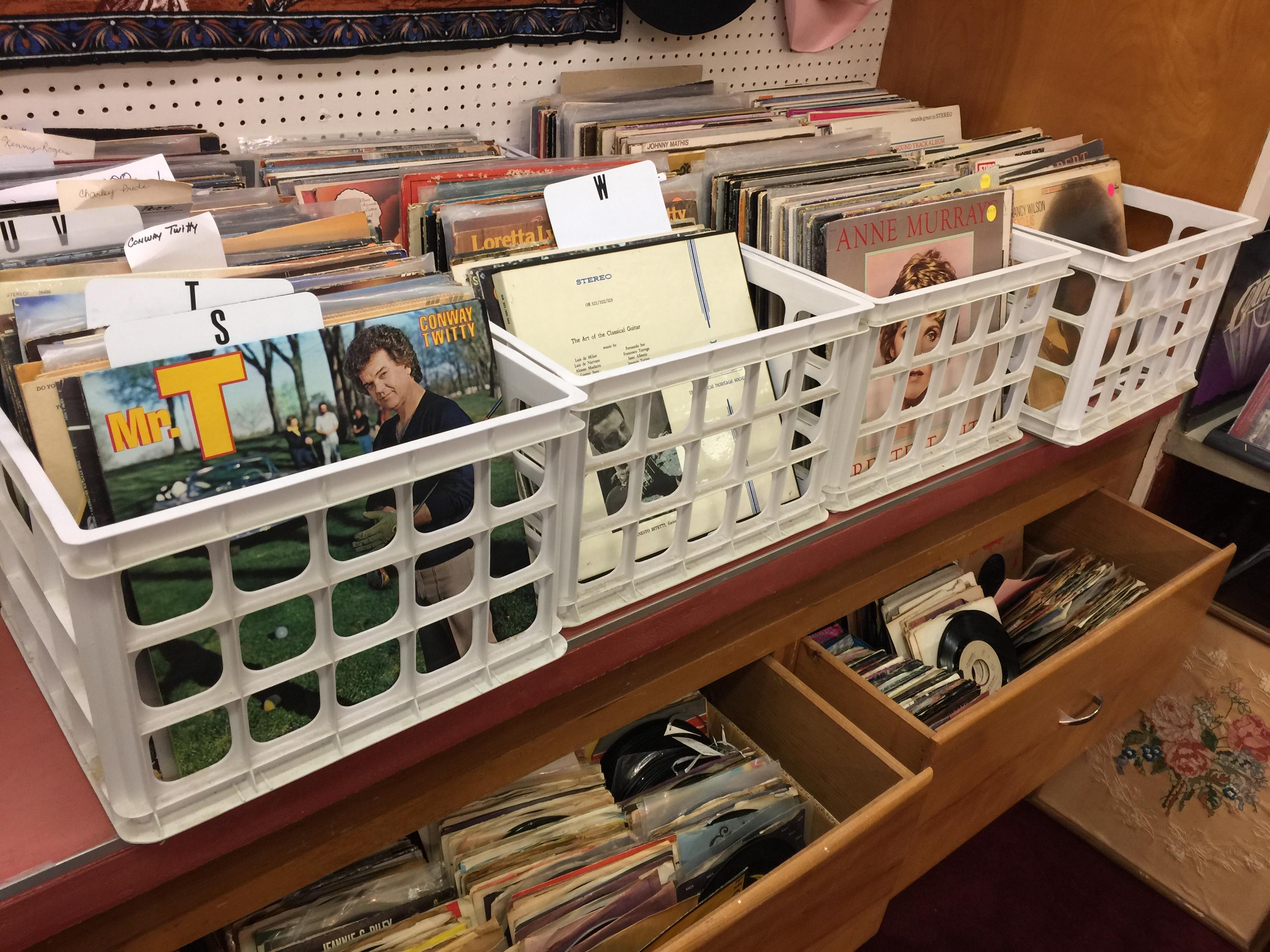 A large Vintage Vinyl selection