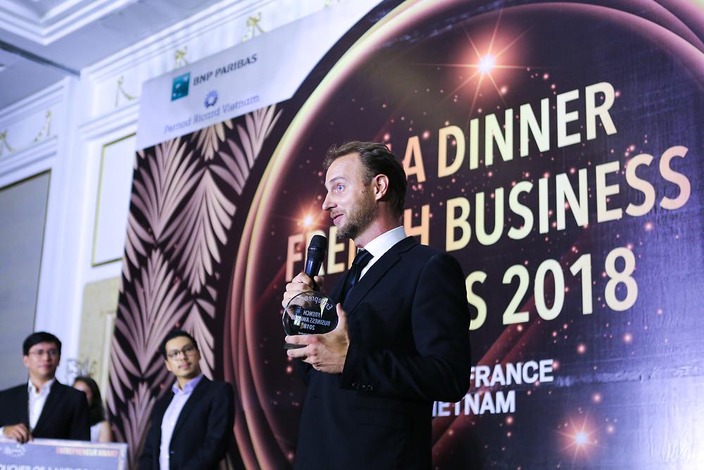 Julien Brun received the  Entrepreneur Trophy
