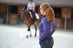 Jessie teaching Cassandra Barlow
