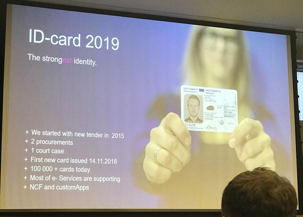 Estonian Information System Authority presenting the Estonia ID-card 2019 at DSA Seminar