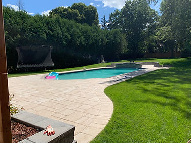 Backyard Interlocking and landscaping pictures