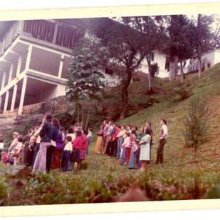 Missa na Cascatinha 1970