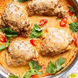 Thai-Satay-Chicken-Thighs-In-Peanut-Sauc