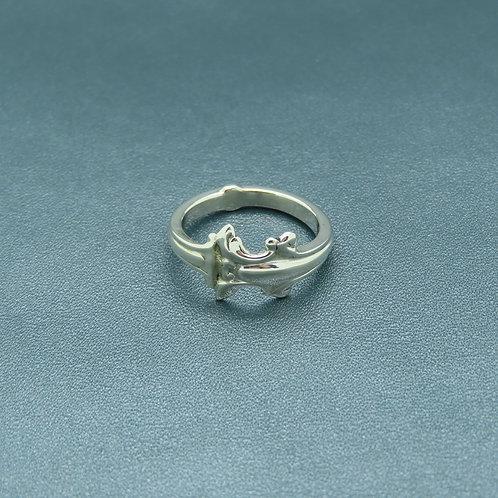 Lepeltjes ring maat 17,5 zilver (925)