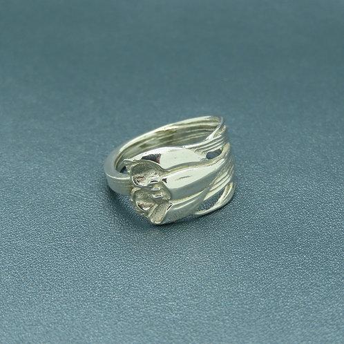 Lepeltjes ring maat 16 zilver (925)
