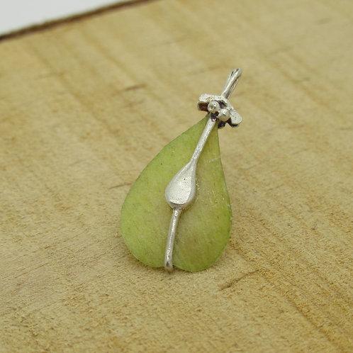 Elmseeds zilveren speldje (925) groen