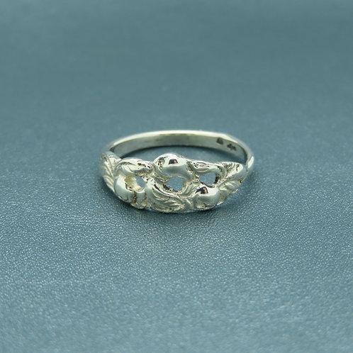 Lepeltjes ring maat 17 zilver (925)