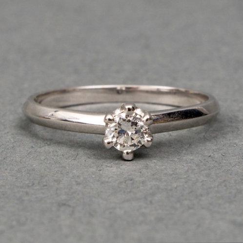 Solitaire ring bezet 0.25crt briljant
