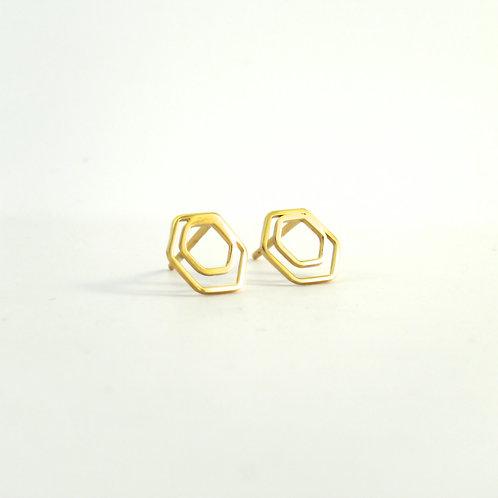 Oorstekers dubbel hexagon 10 mm