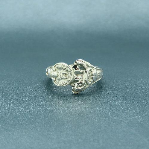 Lepeltjes ring maat 18,5 zilver (925)