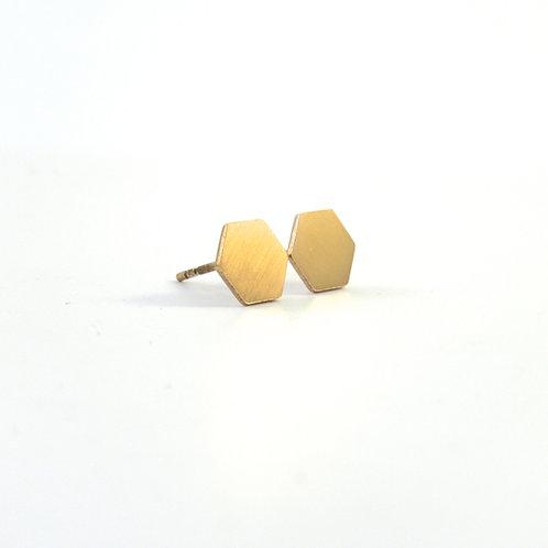 Oorstekers hexagon 8 mm