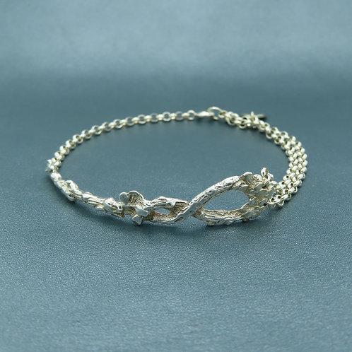 Lepeltjes armband zilver (925)