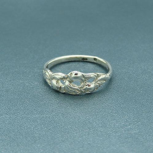 Lepeltjes ring maat 18 zilver (925)