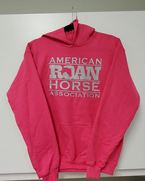 Logo Hoodie Cadmium Pink with Silver
