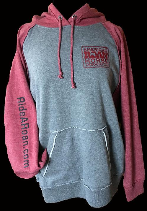 Vintage Hoodie grey w/red