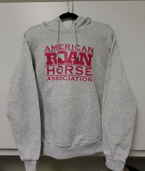 Logo Hoodie Heather Grey with Pink