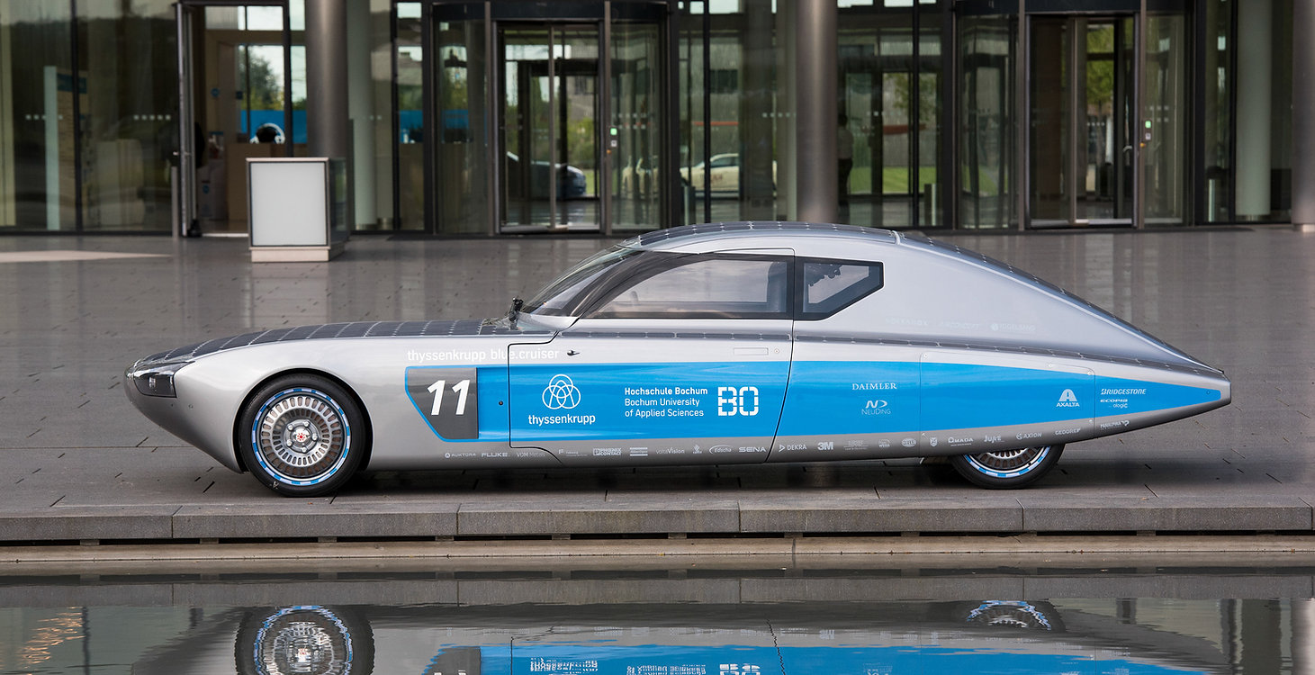 Solarcar blue cruiser
