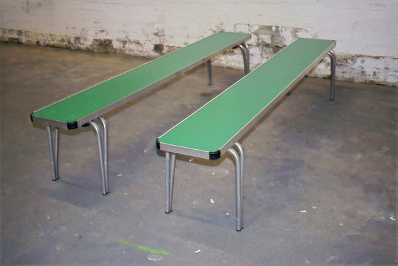 Old School Metal Benches