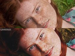 Head shot Added contrast