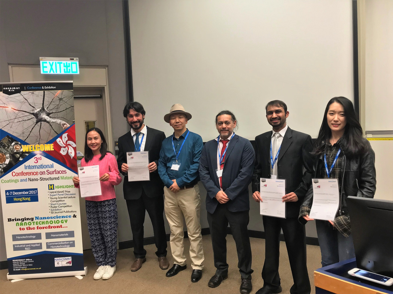 A student joined the International Conference