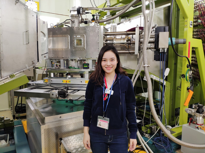 A student worked at J-PARC of Japan to useEngineering Materials Diffractometer (TAKUMI) for doing experiment
