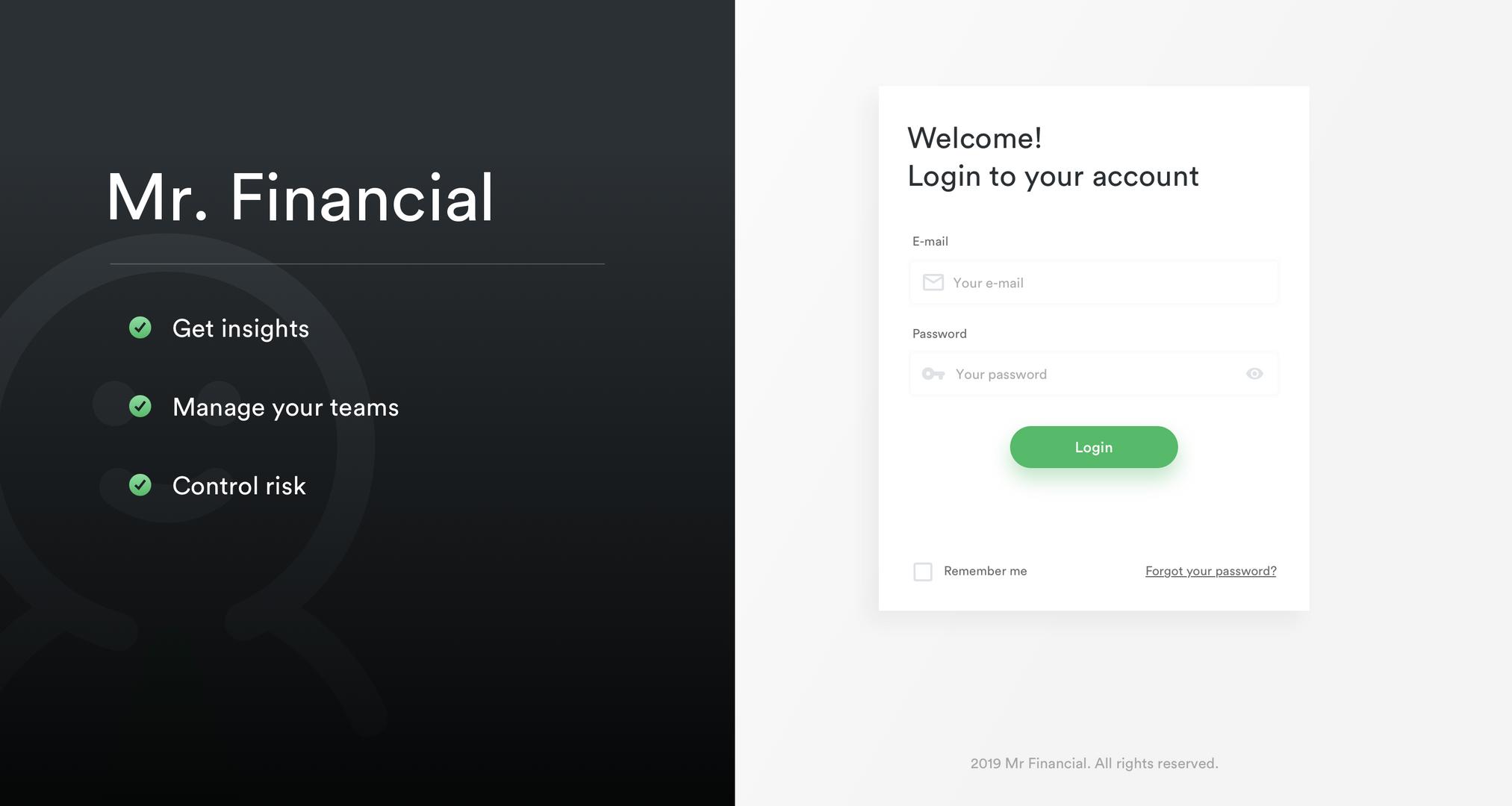 Mr Financial Prototype