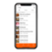 The search screen of an iPhone app that we built to give you an idea of the kind of digital products we can build together.