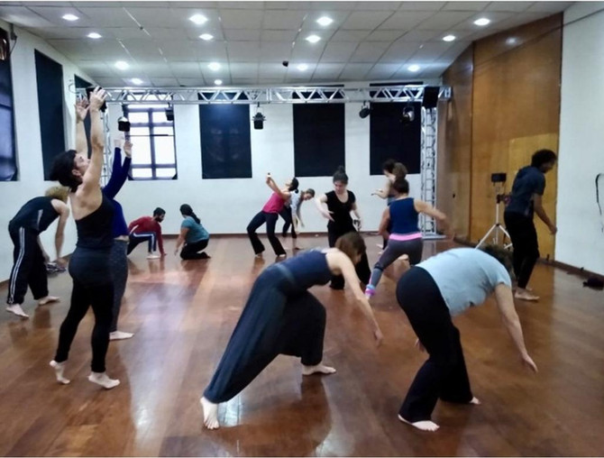 Duas primeiras aulas da Oficina de Estudos de Movimento, realizadas na Oficina Cultural Oswald de An