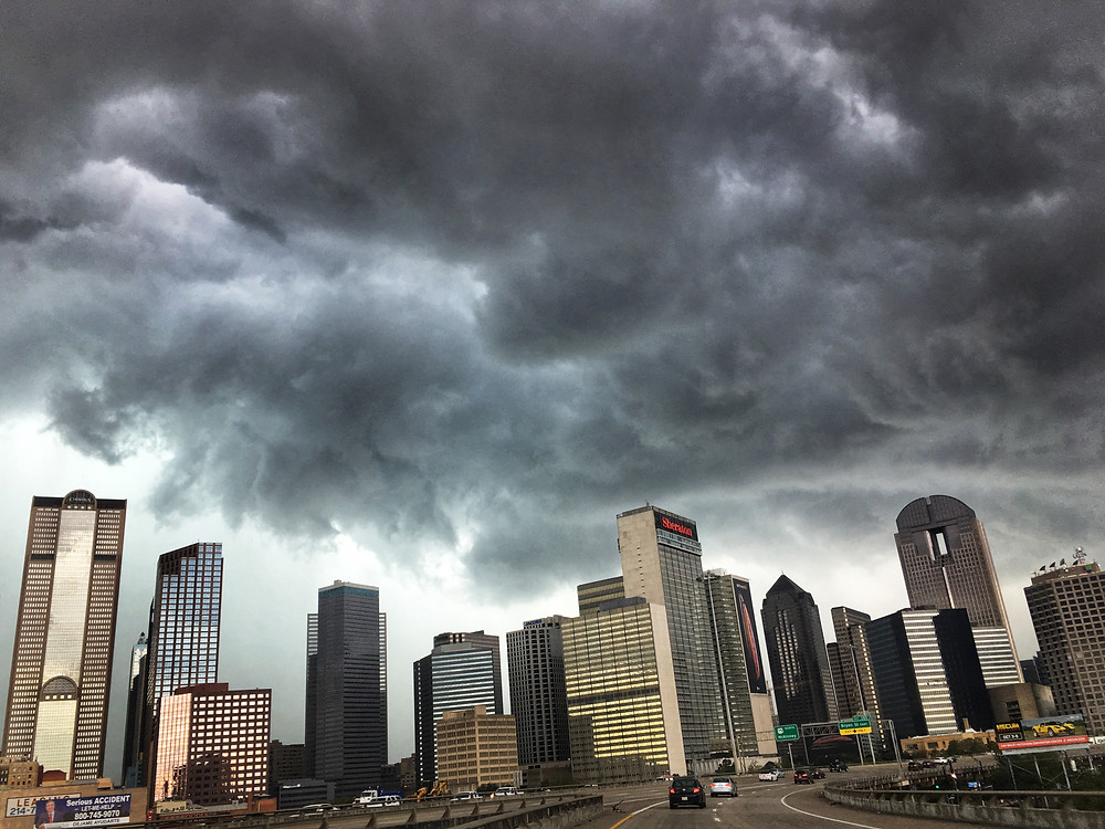 Dallas storm clouds